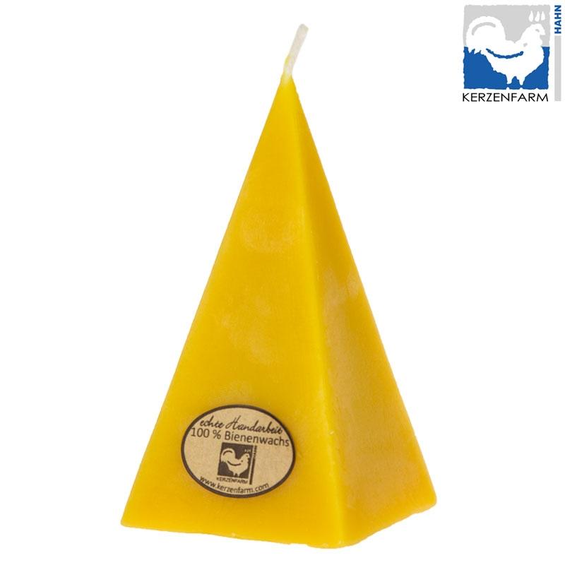 Bienenwachskerze Pyramide 140x60mm