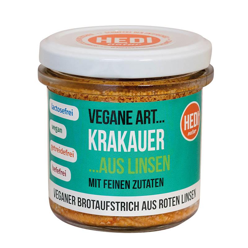Vegane Art Krakauer mit feinen Zutaten